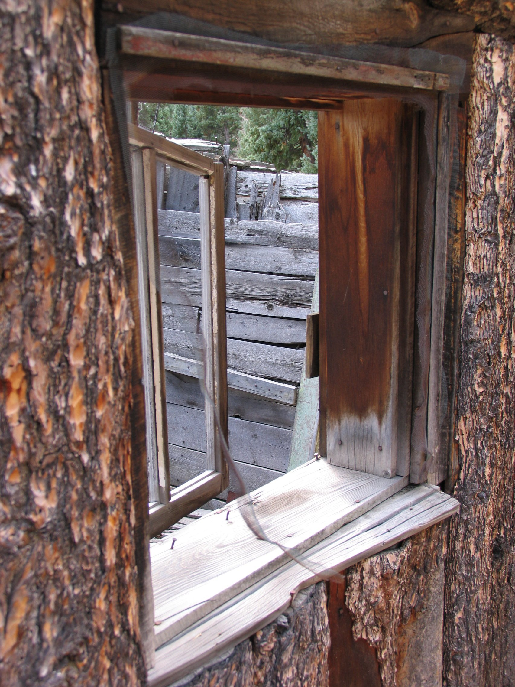 Old Log Cabin Window